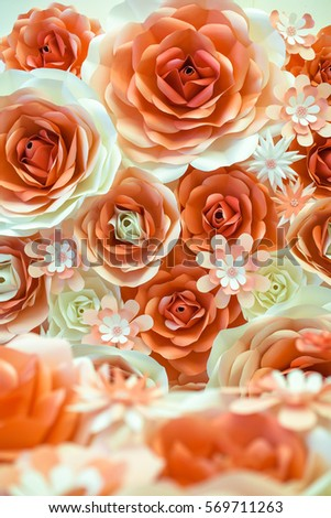 Colorful artificial rose making paper background stock photo edit colorful artificial rose making from paper for background mightylinksfo