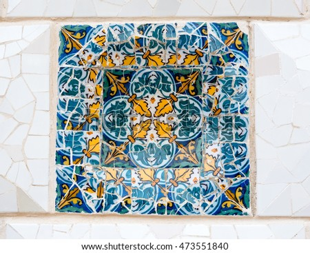 colorful artistic mosaic tiles