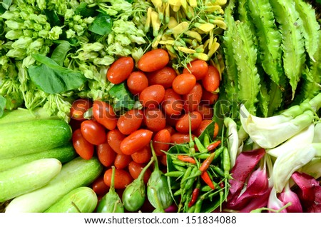 Colorful Asian Vegetables.