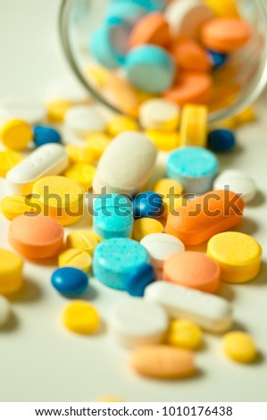 Colorful Assorted Pills