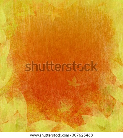 Colorful Autumn Background. Scratched texture. - stock photo