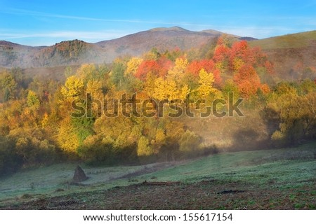 Colorful autumn in mountains - stock photo