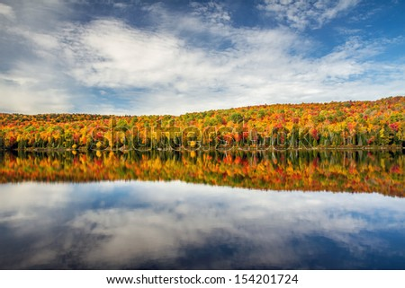 Colorful Autumn  landscape - stock photo