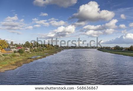 latvian autumn forest river - photo #22