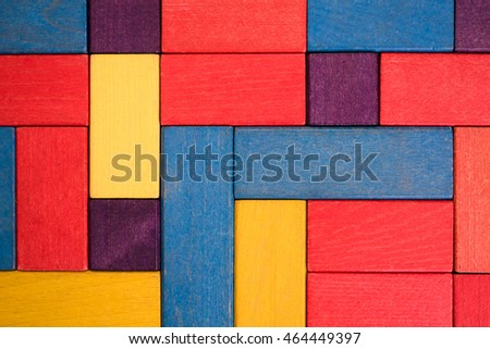 colorful background built of colored children's blocks
