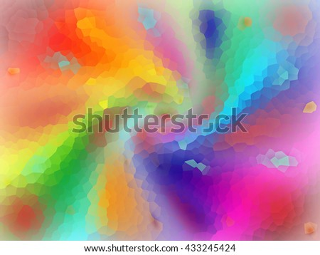 colorful background crystallized