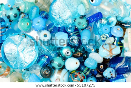 colorful background made of different kinds of beads
