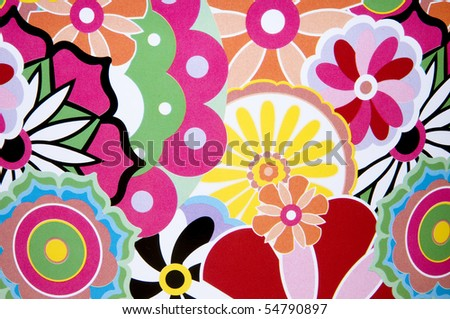 Colorful background made of paper flowers