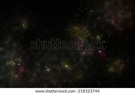 Colorful background od a deep space star field - stock photo