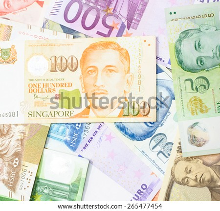 Colorful background of many currency,money profit from business with many country