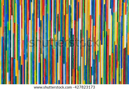 Colorful background of multicolored sticks