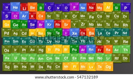 Colorful background periodic table elements 4 stock illustration colorful background of periodic table of the elements with the 4 new elements nihonium urtaz Choice Image