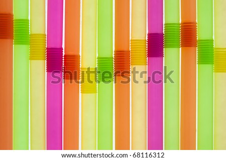Colorful background, straws looking like equalizer - stock photo