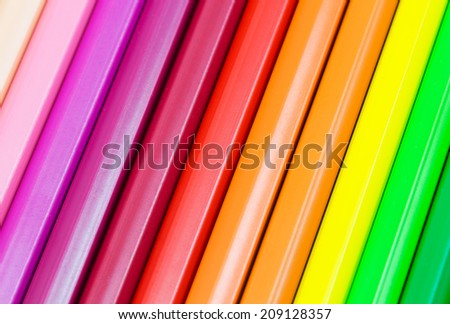 colorful background with pencils