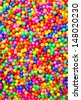 colorful ball and colorful of background - stock photo