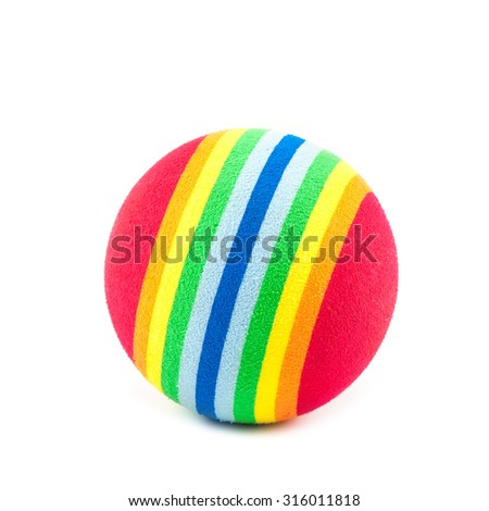 Colorful ball isolated on white background. - stock photo