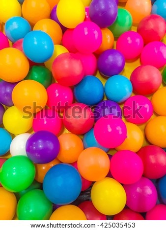 colorful ball play ground :Blur/soft focus picture