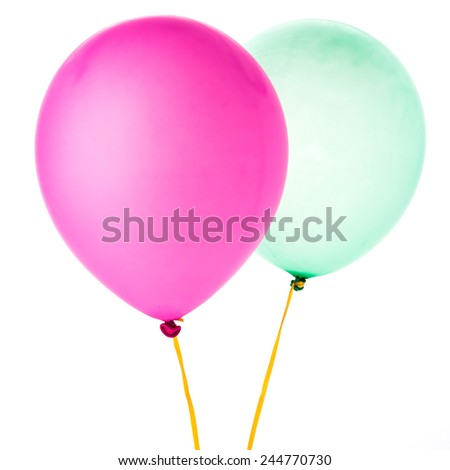 Colorful balloon isolated on white background - stock photo