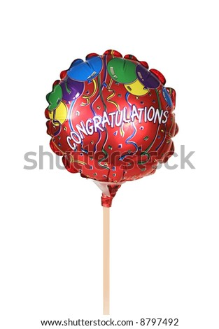 colorful balloon with word congratulations