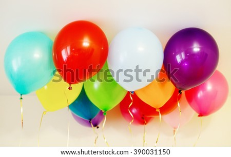 colorful balloons at home -  happy celebration party background