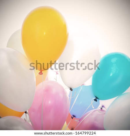 Colorful  balloons. Background - stock photo