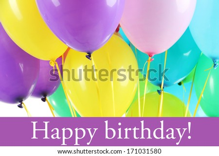 Colorful balloons close up - stock photo