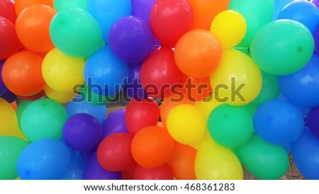 Colorful  balloons for party.