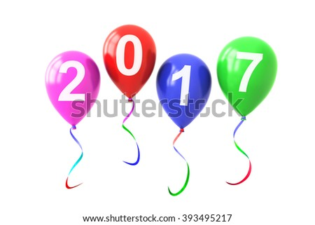 Colorful Balloons Year 2017