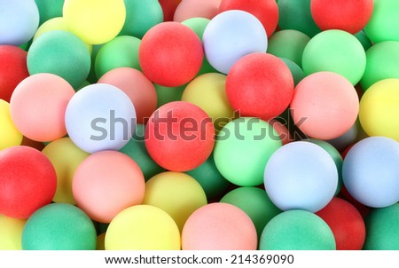 Colorful balls pile - stock photo