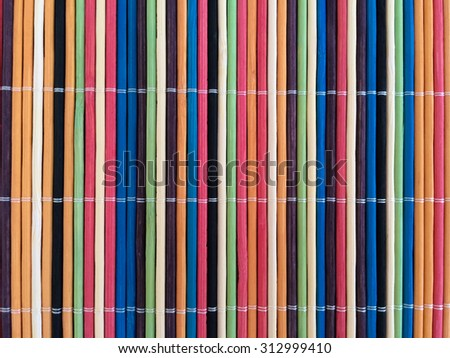 colorful bamboo mat and background