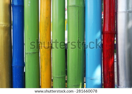colorful bamboo wall