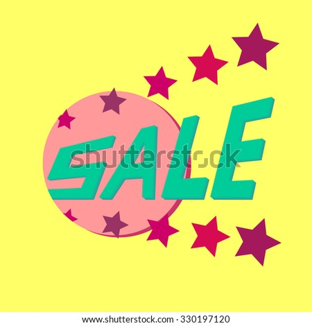 Colorful banner for discounts and advertising sales