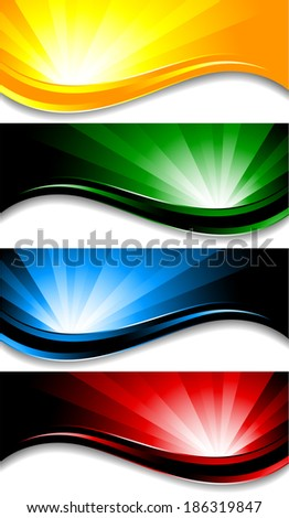 colorful banners; clip-art, raster copy