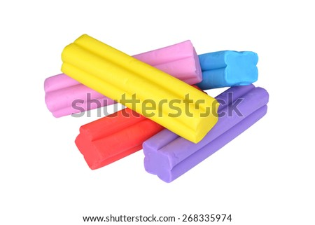 Colorful bars of plasticine