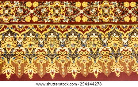 Colorful batik texture pattern in thai style - stock photo