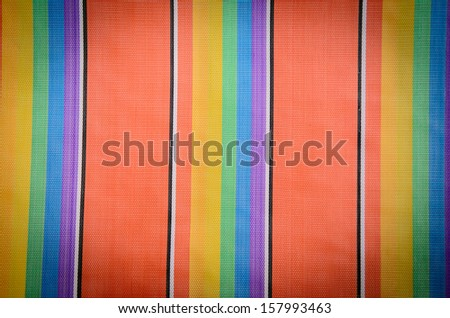 colorful beach chairs background with vignette