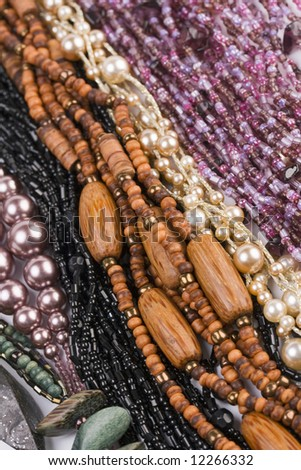 colorful beads as background