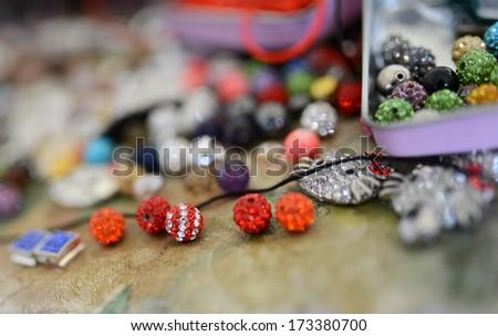 Colorful beads shamballa - stock photo