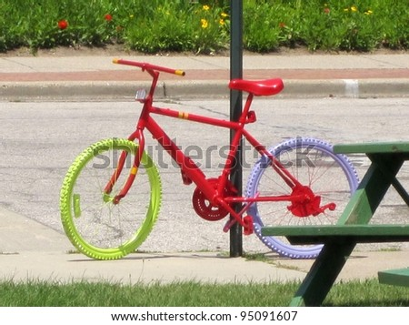 Colorful bicycle - stock photo
