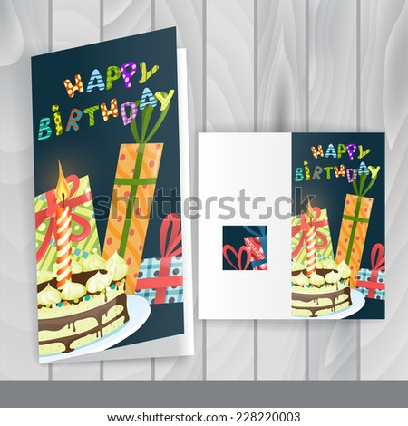 Colorful Birthday Background. Greeting Card Design, Template