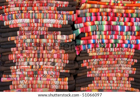 colorful blankets from Bolivia