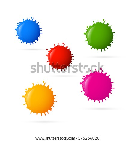 Colorful Blots Icons  - stock photo
