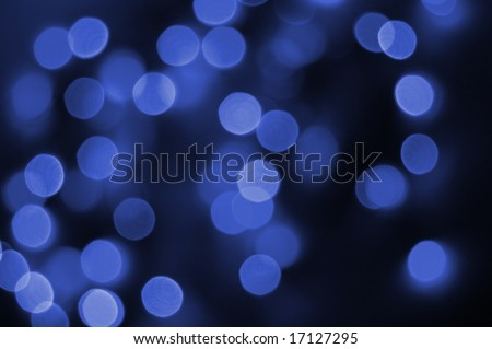colorful blue abstract holiday lights background