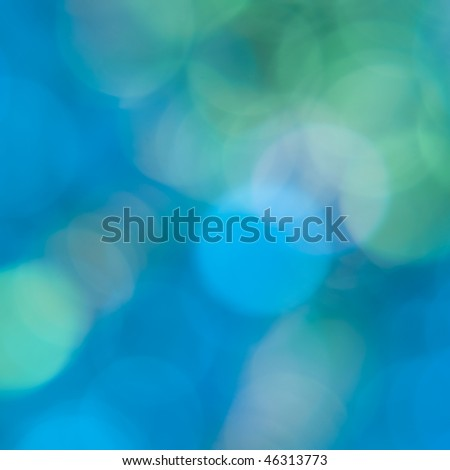 colorful blue green and aqua abstract background with circles of light - stock photo