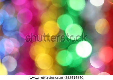 Colorful blur lights bokeh background, Christmas lights bokeh background
