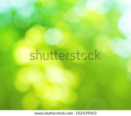 colorful blurred background in the green colors, the bokeh effect