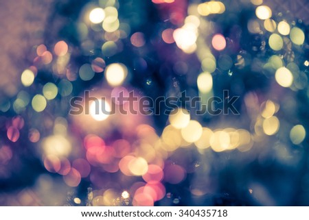 Colorful blurred image of Christmas decoration. Image for festive backgrounds and wallpapers. - stock photo