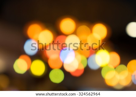 Colorful Blurred Night Bokeh Background