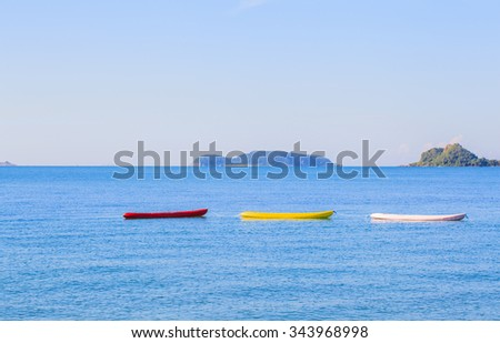 Colorful boats on  the beach.