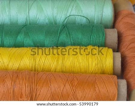 colorful bobbins - stock photo